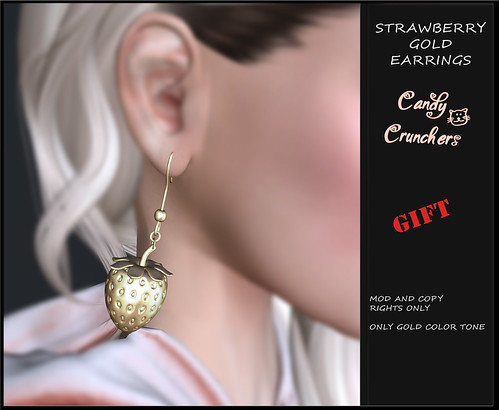 Strawberry Earrings - GIft @ SaNaRea