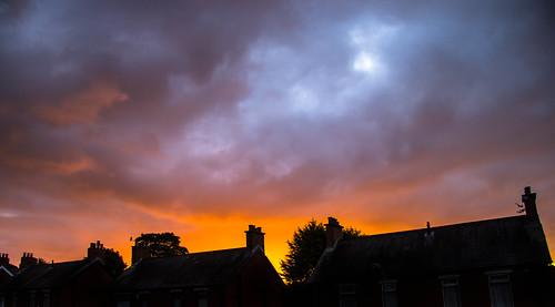 sunrise belfast colourful