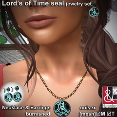 Lords of Time seal  jewelry set copper