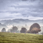 24. September 2020 - 9:26 - A rural view looking from Celleron towards Blencathra touching the clouds.