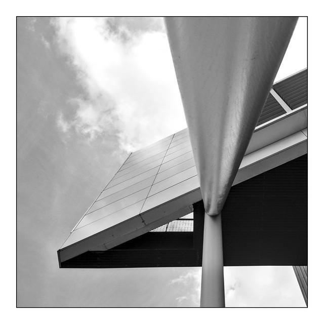 Deloit building Wilhelminaplein, Rotterdam B/W