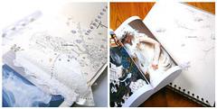 Design imagery, past work, sketchbook pages, investigation, sampling, imagery, mark making.