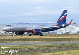F-WWDF first Airbus A320 Neo for Aeroflot