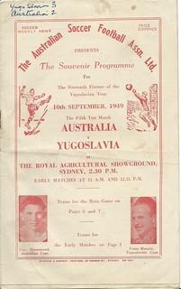 1949 Australia v Hajduk Split 10th September