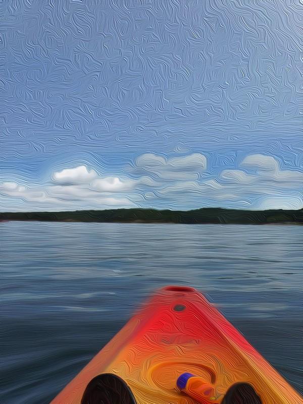 Kayak on Broken Bow Lake