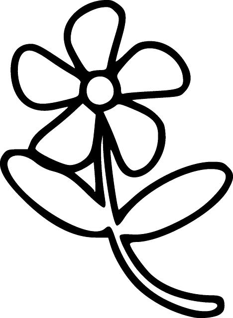 gambar bunga sederhana