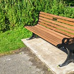 New 'in memory of' bench at Haslam Park