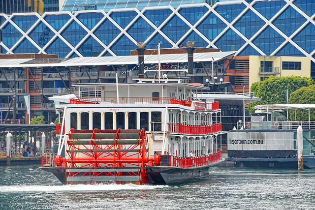 Paddle Wheel at Darling Harbour, Sydney, Australia.