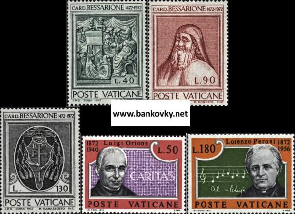 Známky Vatikán 1972, 2 nerazené série MNH