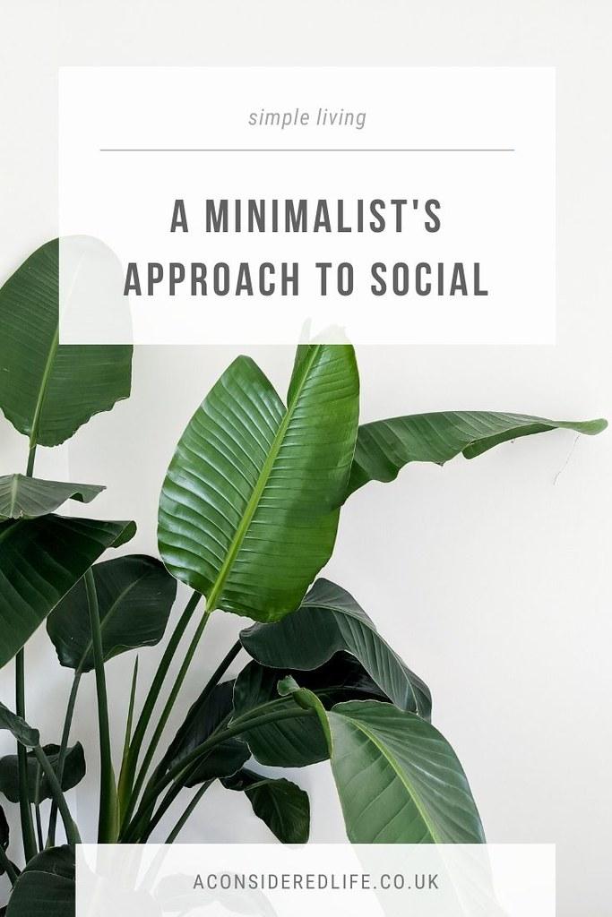 A Minimalist Approach To Social Media