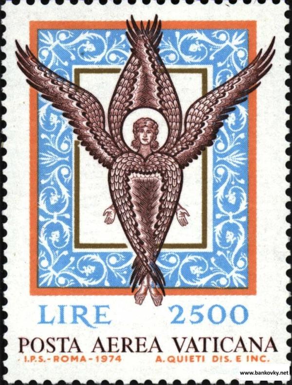 Známka Vatikán 1974 Anjelská mozaika MNH