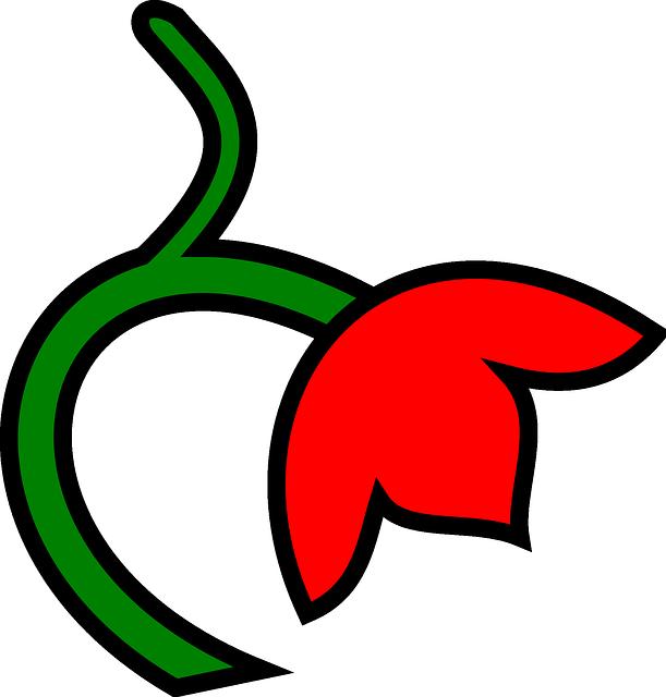 gambar flora berwarna simple