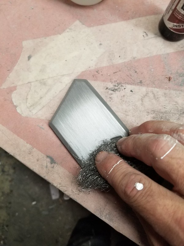 Buffing Belt Buckle with Steel Wool