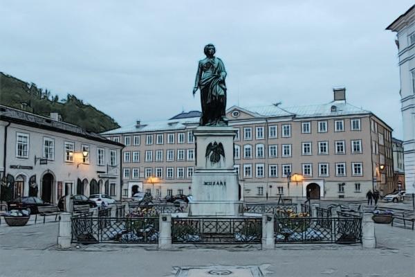 Salzburgo_Mozartplatz
