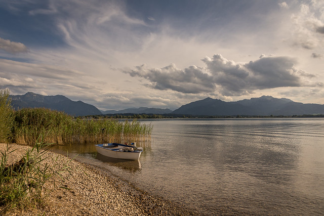 Lake Chiemsee in golden light