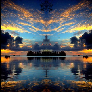 Merging into a New Real-ity 2 - Sunset - mirror effect 12 - PicsArt 2020 | by iezalel7williams