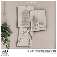 Atelier Burgundy . Wall Sketches