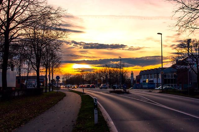 Sunset, Dülmen, Germany