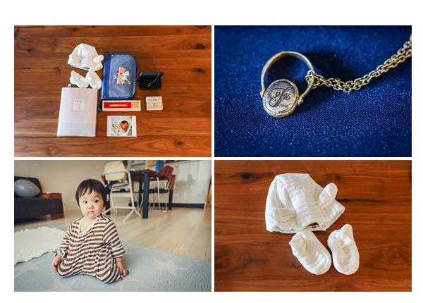 育児の思い出グッズ 日記帳 赤ちゃん筆 ペンダント 帽子と靴下