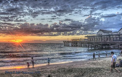 redondobeach redondobeachpier sunset colorful pier ocean pacificocean california southerncalifornia