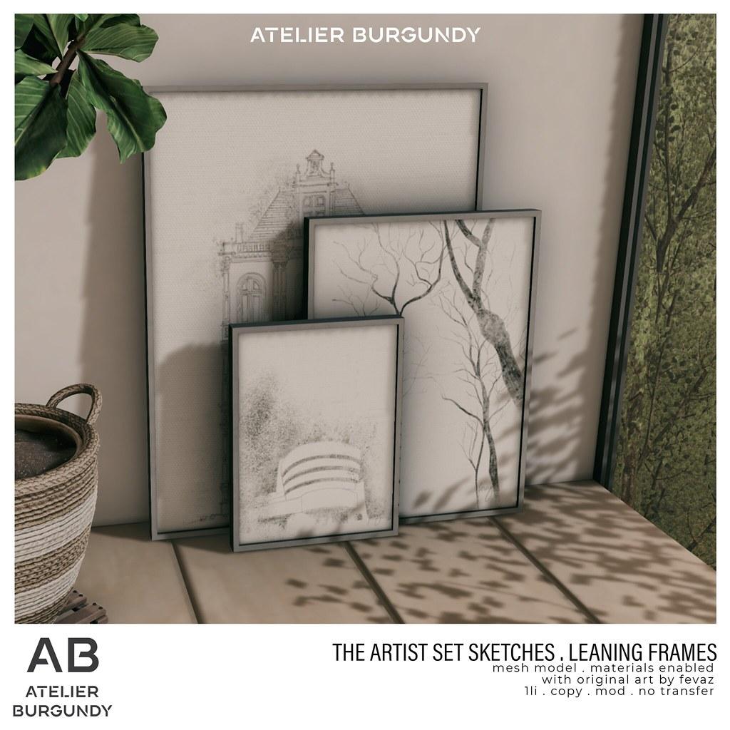 Atelier Burgundy . Leaning Frame