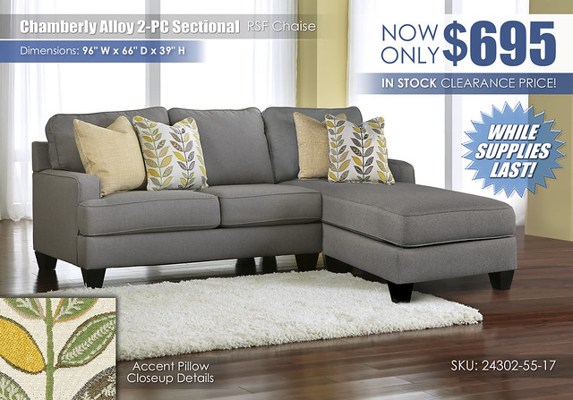 Chamberly Alloy 2 PC Sectional_24302-55-17