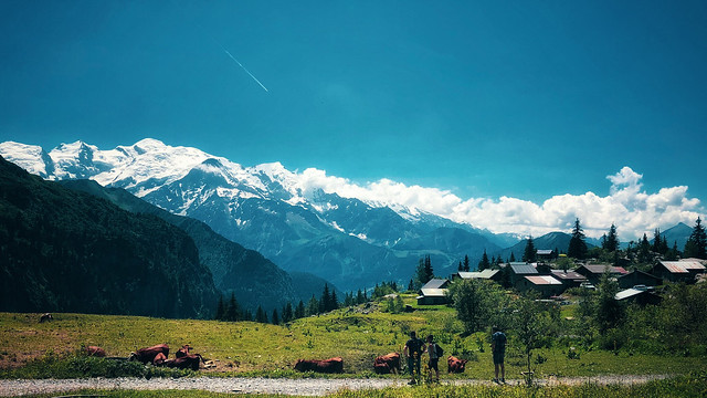 Summer day in the French Alps
