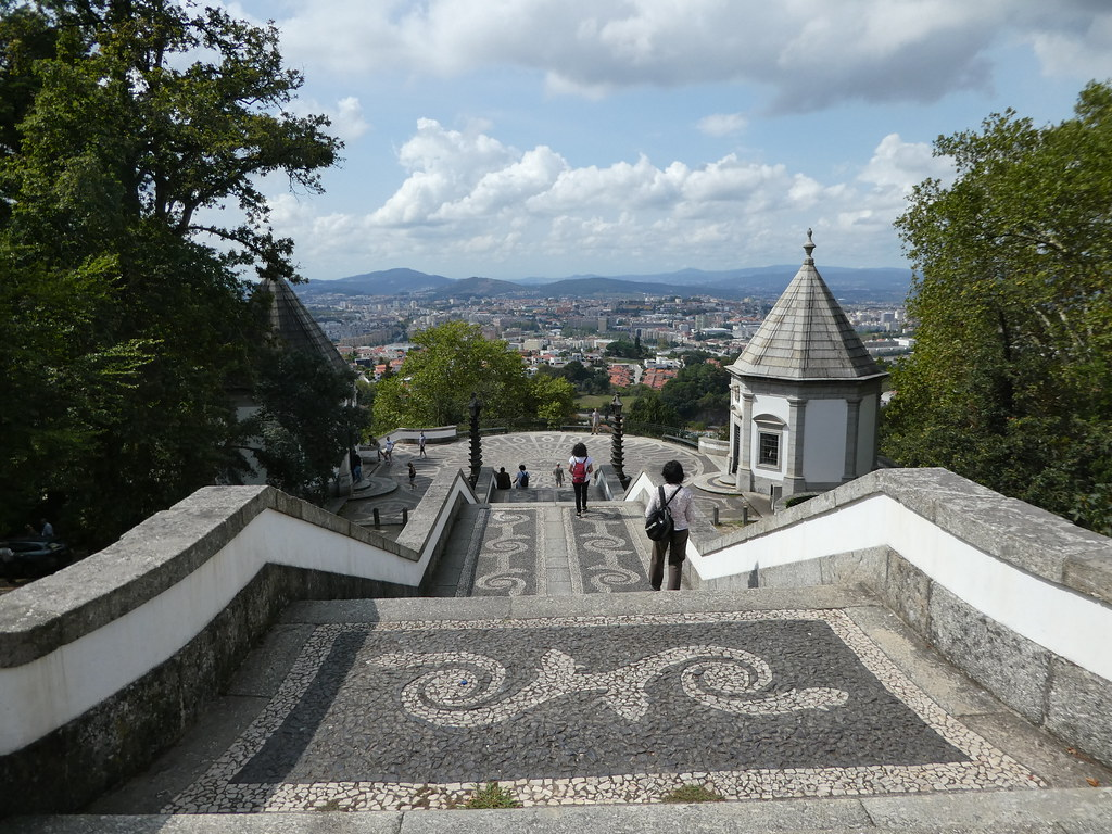 View from the Bom Jesus monument staircase, Braga