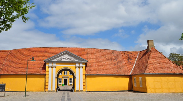 Ancien palais épiscopal, 1733-1736, musée d'art contemporain aujourd'hui, Staendertorvet, Roskilde, Sjælland, Danemark.