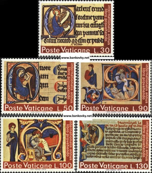 Známky Vatikán 1972 Knihy, neraz. séria MNH