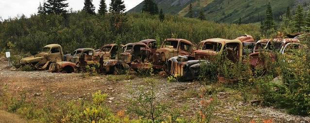 Canol Road Northern Section. Yukon Territory, Canada.  World War Two Remains
