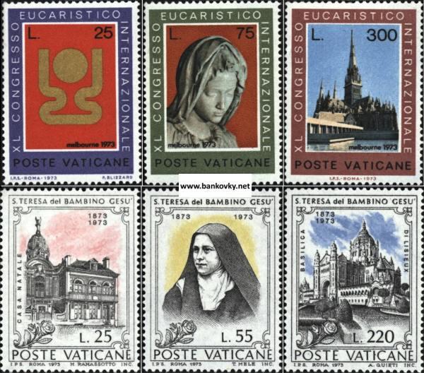 Známky Vatikán 1973 2 kompletné série MNH