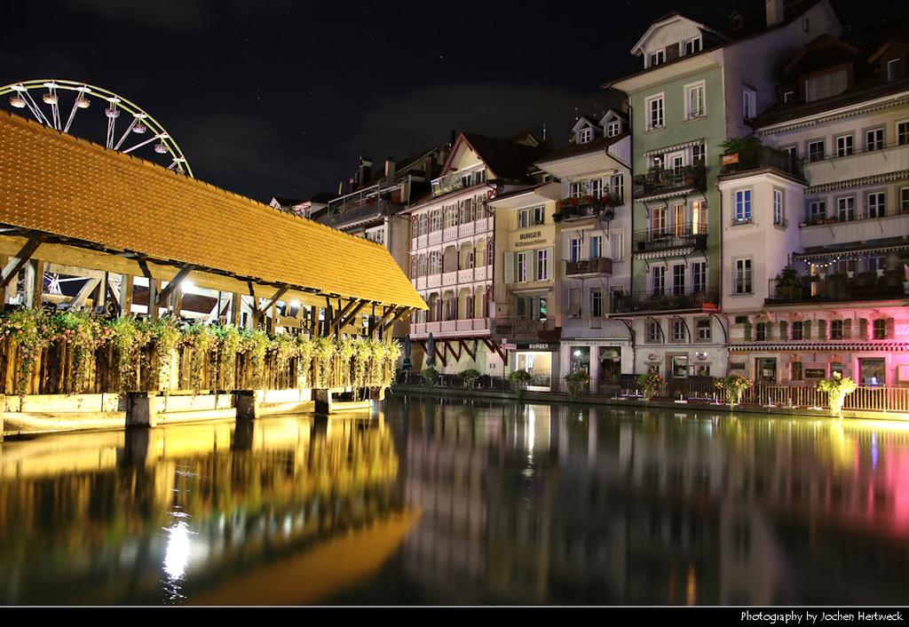 Aare River @ Night, Thun, Switzerland