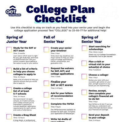 Thumbnail preview of College Plan Checklist