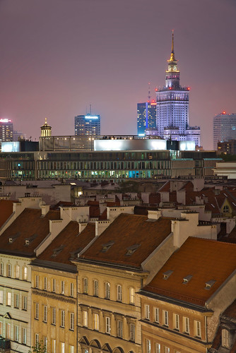 sky urban capital dramatic street background historic socialism travel skyscraper europe skyscrapers outdoor cityscape new destination center tourism sunrise aerial monumental science lights dusk landmark famous night building city top warsaw business palace tower twilight monument socialist culture town poland modern downtown house architecture warszawa buildings panorama historical polish light