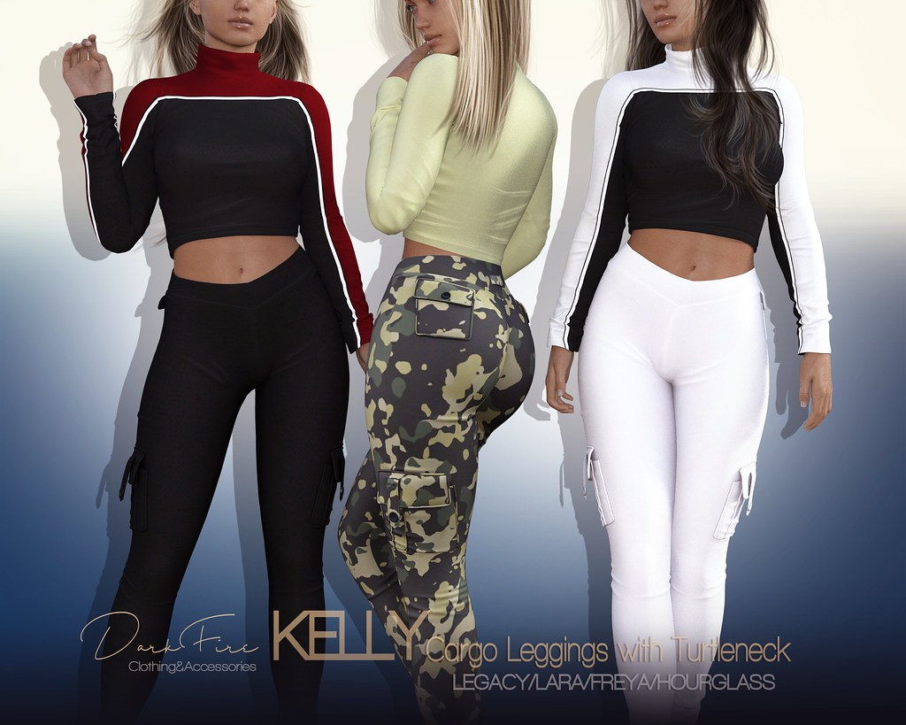 Kelly Cargo Leggings and Turtleneck