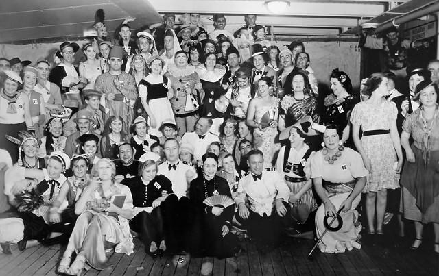 Fancy dress party aboard Marnix van Sint Aldegonde, 1937