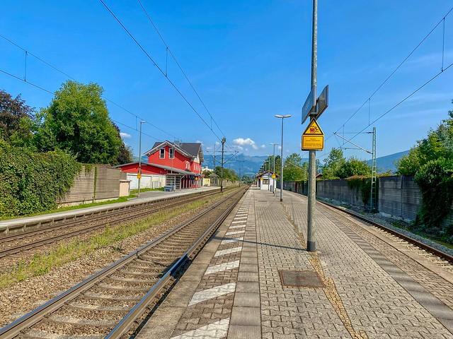 Train station of Kiefersfelden in Bavaria, Germany