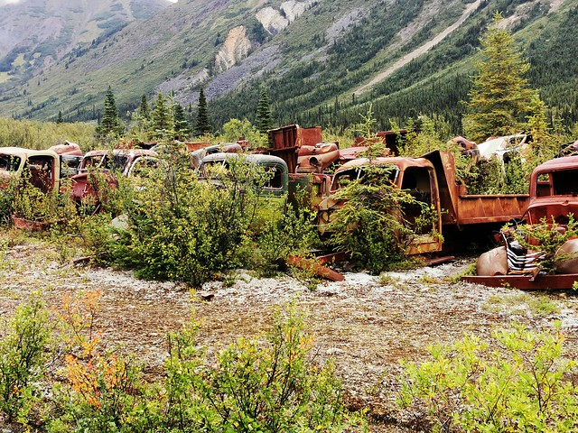 Canol Road Northern Section.  Yukon Territory, Canada.  World War Two - Remains