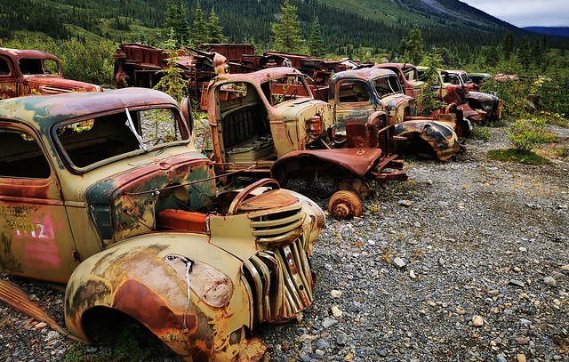 Canol Road Northern Section. Yukon Territory, Canada.  World War Two Remains.
