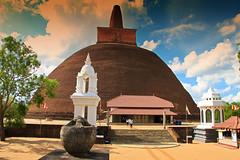 Abhayagiri Stupa in Anuradhapura, Sri Lanka
