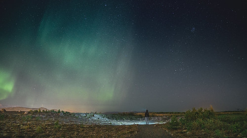 Me and Aurora Borealis / Iceland
