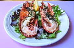 Scottish native lobster with herb butter sauce