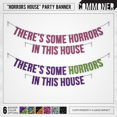 """[Commoner] """"Horrors House"""" Party Banner"""