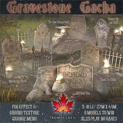 Trompe Loeil - Graveyard Gacha for The Arcade Halloween Pop-Up
