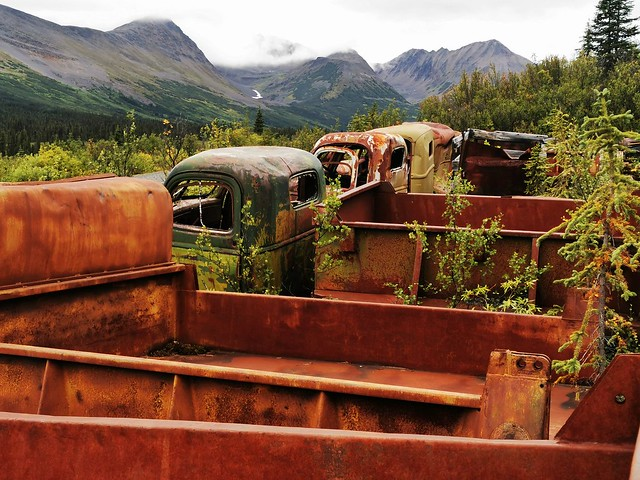 Canol Road Northern Section. Yukon Territory, Canada.  World War Two - Relics.