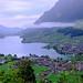Misty Sarnersee, Switzerland