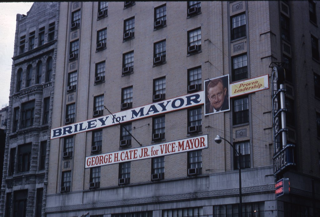 Sidney Oberry Slide Collection - Briley for Mayor sign