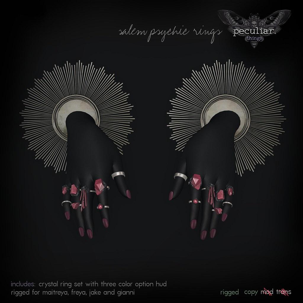 PROMO salem psychic rings