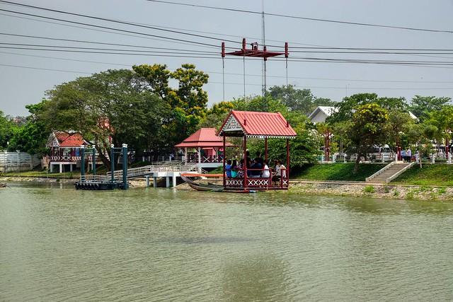 Cable car across the Chao Phraya river in Bang Pa-In near Ayutthaya, Thailand
